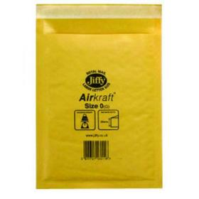 Jiffy AirKraft Bag Size 0 140x195mm Gold GO-0 (Pack of 10) MMUL04602