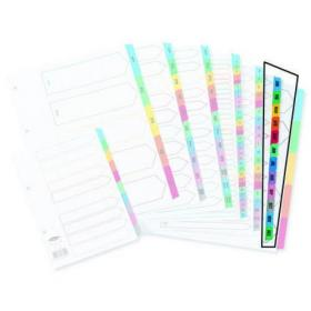 Concord Index Jan-Dec A4 White with Multicoloured Tabs 02401/CS24