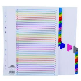 Concord Index 1-31 A4 Extra Wide Multicoloured Mylar Tabs 10001/CS100