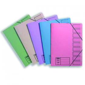Concord 9-Part File Foolscap Elasticated Assorted (Pack of 10) 19099