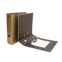 Cheap Stationery Supply of Concord Noir A4 Lever Arch File Gold 8315-NOI Office Statationery