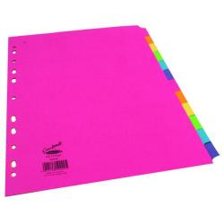 Cheap Stationery Supply of Concord Divider 12-Part A4 160gsm Bright Assorted 50999 Office Statationery