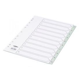 Concord Index 1-10 A4 Polypropylene Grey 62405
