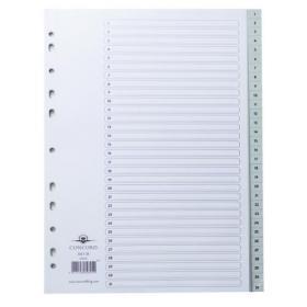 Concord Index 1-31 A4 Polypropylene Grey 62805