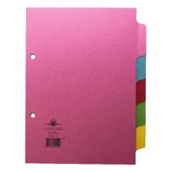 Cheap Stationery Supply of Concord Divider 5-Part A5 160gsm Pastel Colours 70599/J5 Office Statationery