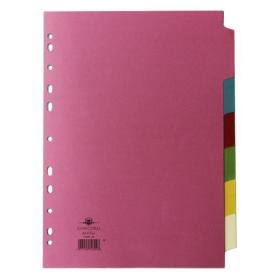 Concord Divider 6-Part A4 160gsm Multicoloured 70699/J6