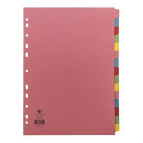 Concord Divider 15-Part A4 160gsm Multicoloured 71599/J15