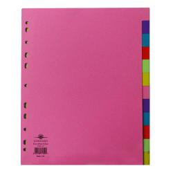 Cheap Stationery Supply of Concord Divider 12-Part A4 Extra Wide Pastel Colours 71799/J17 Office Statationery