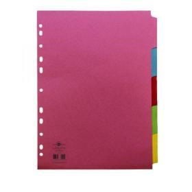 Concord Reinforced Divider 5-Part A4 160gsm Pastel Colours 77099