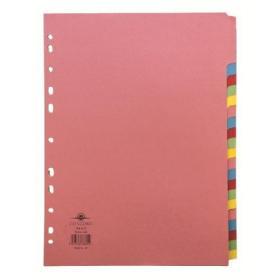 Concord Index A-Z 20-Part A4 Pastel Colours 78602/AZ6