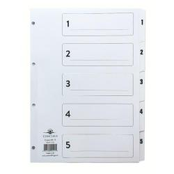 Cheap Stationery Supply of Concord Classic Index 1-5 A4 White Board Clear Mylar Tabs 00501/CS5 Office Statationery