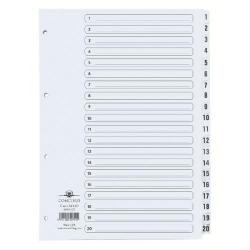 Cheap Stationery Supply of Concord Classic Index 1-20 A4 White Board Clear Mylar Tabs 00701/CS7 Office Statationery