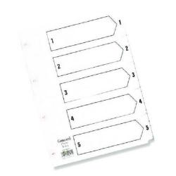 Cheap Stationery Supply of Concord Reinforced Index 1-5 A5 White Board Mylar Tabs 07001/CS70 Office Statationery