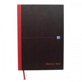 Black n Red Book Casebound 90gsm Double Cash 192pp A4 Ref 100080514 Pack of 5