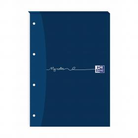 Oxford MyNotes Refill Pad Headbd 90gsm Ruled Margin Punched 4 Holes 160pp A4 Blue Ref 100080212 Pack of 5