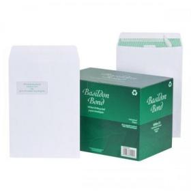 Basildon Bond Envelopes FSC Recycled Pocket P&S Window 120gsm C4 White Ref K80121 Pack of 250