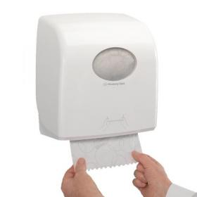 Aquarius Large Roll Rolled Hand Towel Dispenser White 7375