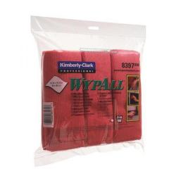 Cheap Stationery Supply of Wypall Microfibre Cloth Red Pack of 6 Buy 2 Get 1 Free KC832082 Office Statationery