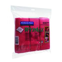 Cheap Stationery Supply of Wypall Microfibre Cloth Red (Pack of 6) 8397 Office Statationery