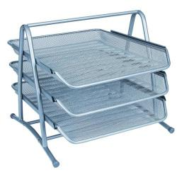Cheap Stationery Supply of Q-Connect 3 Tier Letter Tray Silver KF00822 Office Statationery