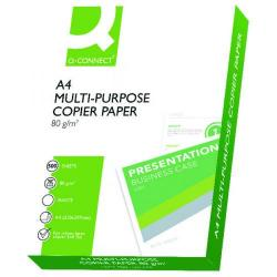 Cheap Stationery Supply of Q-Connect A4 White 80gsm Copier Paper (Pack of 2500) KF01087  Office Statationery