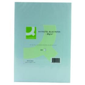 Q-Connect Blue Coloured A4 Copier Paper 80gsm Ream (Pack of 500) KF01094