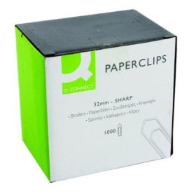 Q-Connect Paperclips No Tear 32mm (Pack of 1000) KF01313