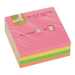 Cheap Stationery Supply of Q-Connect Quick Note Cube 76 x 76mm Assorted Neon KF01348 Office Statationery