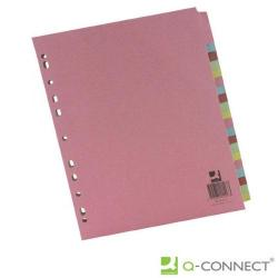 Cheap Stationery Supply of Q-Connect 20-Part Subject Divider Multi-punched A4 KF01517 Office Statationery