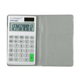 Q-Connect Silver Large 12-Digit Pocket Calculator KF01603