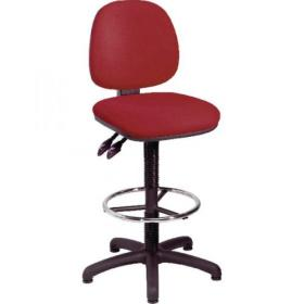 Jemini Claret Medium Back Draughtsman Chair KF838254