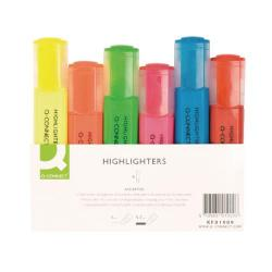 Cheap Stationery Supply of Q-Connect Assorted Highlighter Pens (Pack of 6) KF01909 Office Statationery