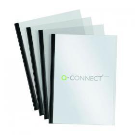 Q-Connect Black A4 5mm Slide Binder and Cover Set (Pack of 20) KF01926