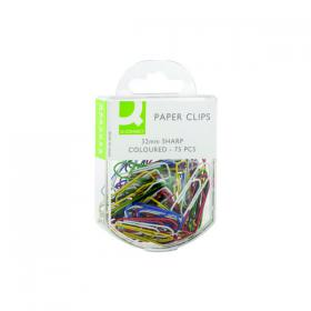Q-Connect Paperclips Coloured 32mm (Pack of 750) KF02023Q