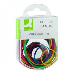 Cheap Stationery Supply of Q-Connect Rubber Bands Assorted Sizes Coloured 15g (Pack of 10) KF02032Q Office Statationery