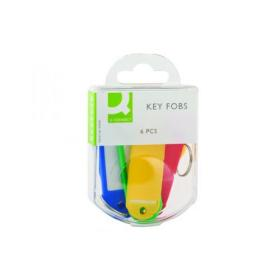 Q-Connect Key Fobs 6 Assorted (Pack of 10) KF02036Q