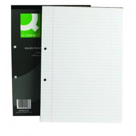 Q-Connect Feint Ruled Margin Head Bound Refill Pad 160 Pages A4 (Pack of 10) KF02228