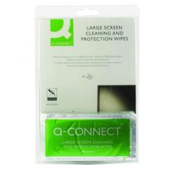 Cheap Stationery Supply of Q-Connect Large Screen/Protection Wipes (Pack of 10) KF02245A Office Statationery