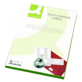 Q-Connect Multi-Purpose Labels 99.1x67.7mm 8 per A4 Sheet White (Pack of 4000) KF02251