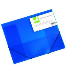 Cheap Stationery Supply of Q-Connect Elasticated Folder 3 Flap A4 Blue KF02312 Office Statationery
