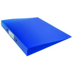 Q-Connect 2 Ring Binder Frosted A4 Blue (Frosted polypropylene covers with 25mm capacity) KF02483