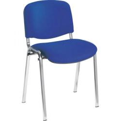 Cheap Stationery Supply of Jemini Ultra Multi Purpose Stacking Chair Chrome/Blue KF03349 Office Statationery