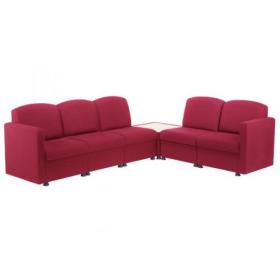 Arista Modular Reception Chair Claret KF03490