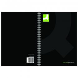Cheap Stationery Supply of Q-Connect Hardback Wirebound Book A5 Black (Pack of 3) KF03728 Office Statationery