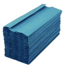 2Work 1-Ply C-Fold Hand Towels Blue (Pack of 2880) HC128BLVW