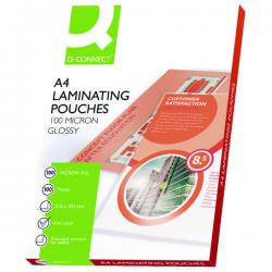 Cheap Stationery Supply of Q-Connect A4 Laminating Pouch 200 Micron (Pack of 100) KF04115 Office Statationery
