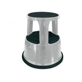 Q-Connect Metal Step Stool Light Grey KF04844
