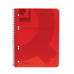 Cheap Stationery Supply of Q-Connect Spiral Bound Polypropylene Notebook 160 Pages A5 Red (Pack of 5) KF10035 Office Statationery