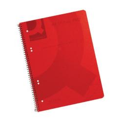 Cheap Stationery Supply of Q-Connect Spiral Bound Polypropylene Notebook 160 Pages A4 Red (Pack of 5) KF10038 Office Statationery
