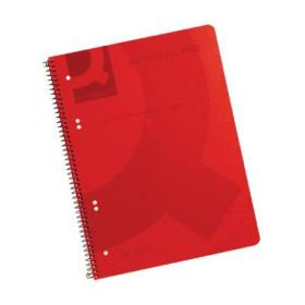Q-Connect Spiral Bound Polypropylene Notebook 160 Pages A4 Red (Pack of 5) KF10038